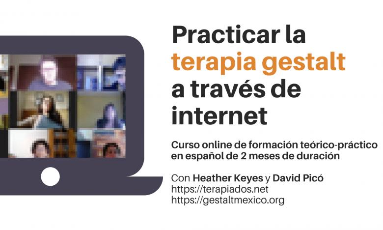 """seminario online """" como practicar la terapia gestalt a través de internet"""" con David Picó"""